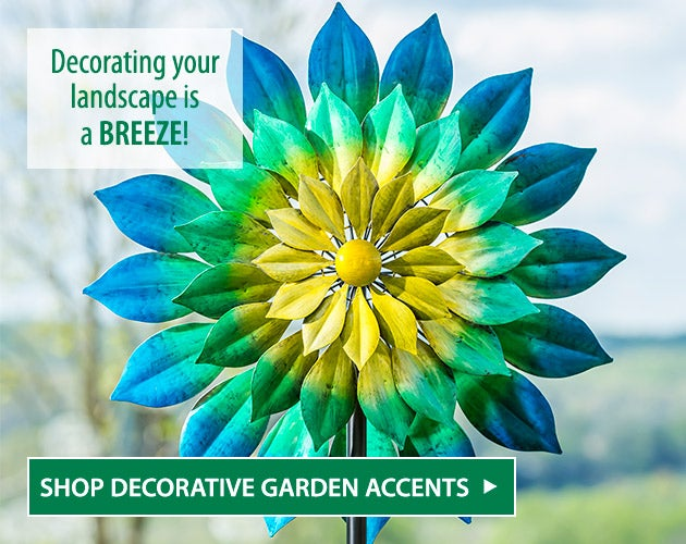 Multicolor Floral Triple Blade Wind Spinner. Decorating your landscape is a BREEZE! - Shop Decorative Garden Accents