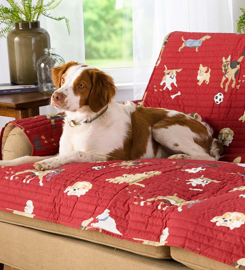 Protective Pet Love Seat Cover, Dog Park Design