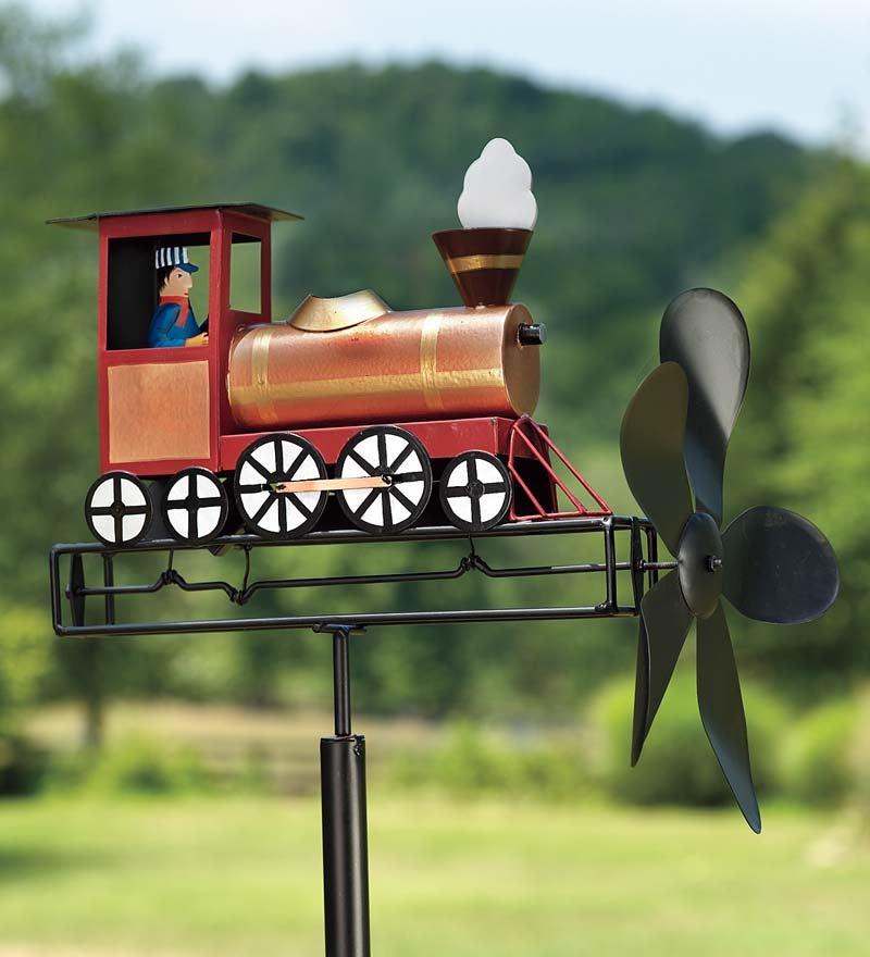 Metal Americana Train Whirligig