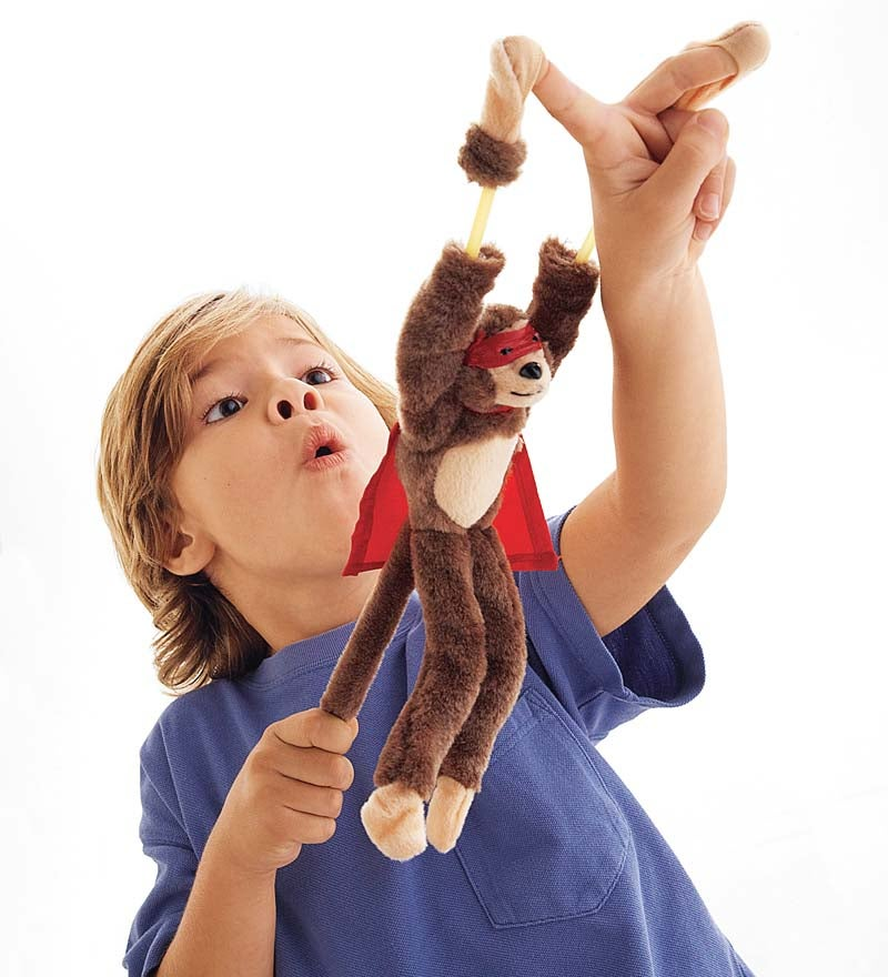 Flingshot Flying Monkey Plush Toys, Set of 3