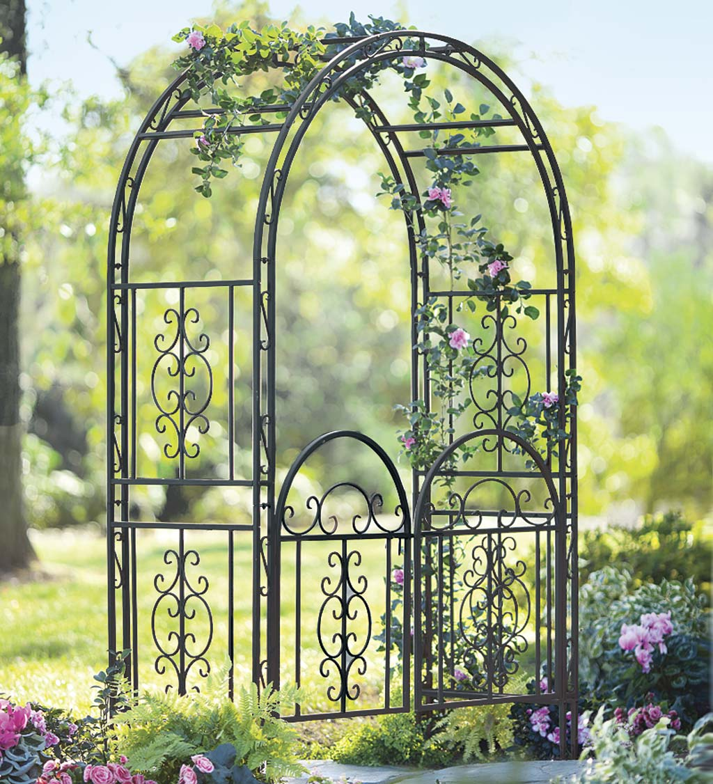 Montebello Scrollwork Metal Garden Arbor