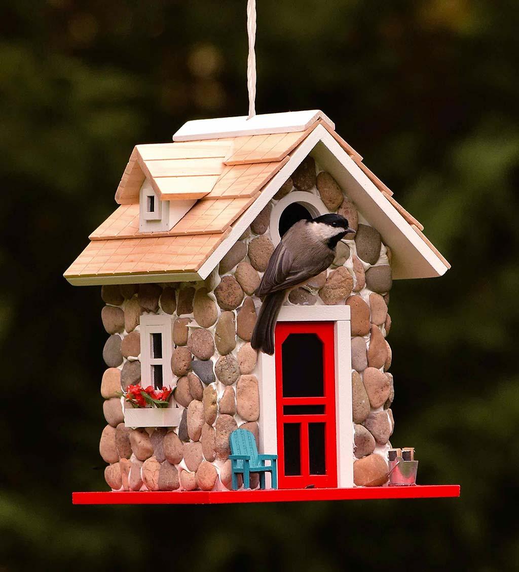 Stone Cottage Birdhouse