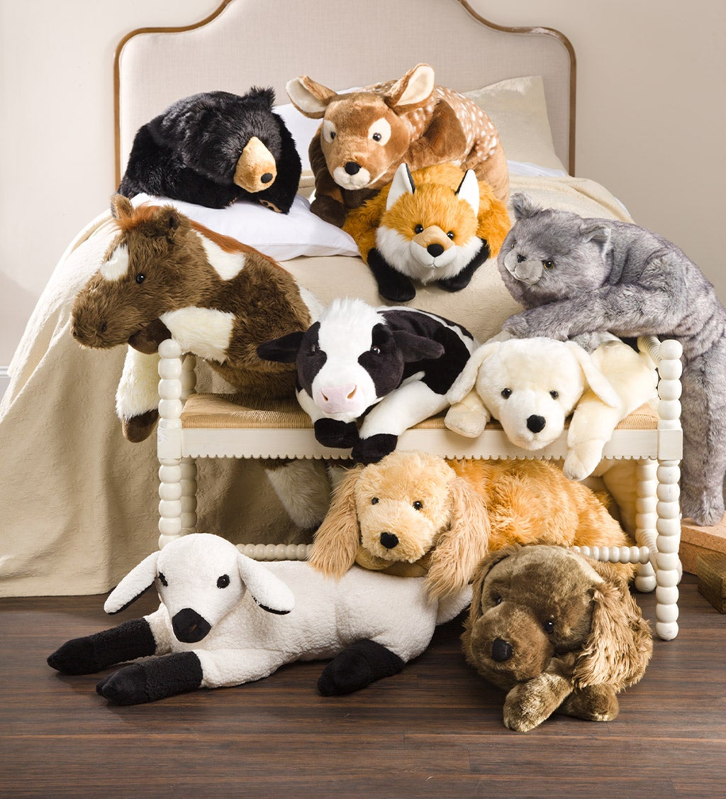 Assortment of Plush Cuddle Animal Body Pillows