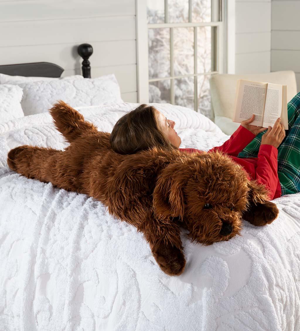 Labradoodle Plush Cuddle Animal Body Pillow