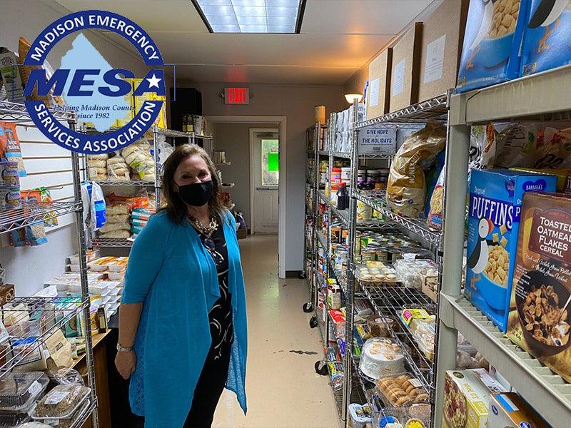 woman im food pantry