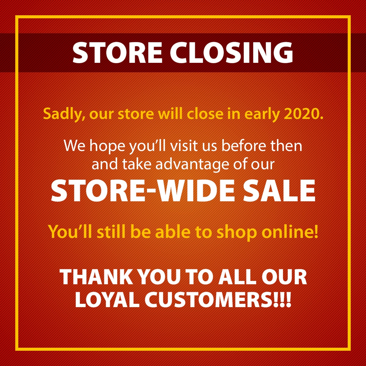 Plow & Hearth Virginia Beach Store closing early 2020. We hope you'll visit us before then and take advantage of our STORE-WIDE SALE.  You'll still be able to shop online!.  THANK YOU TO ALL OUR LOYAL CUSTOMERS!!!