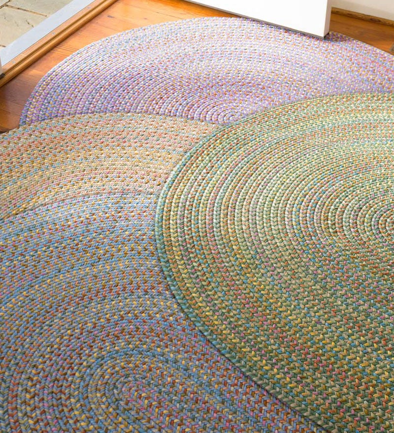 bright braided rugs