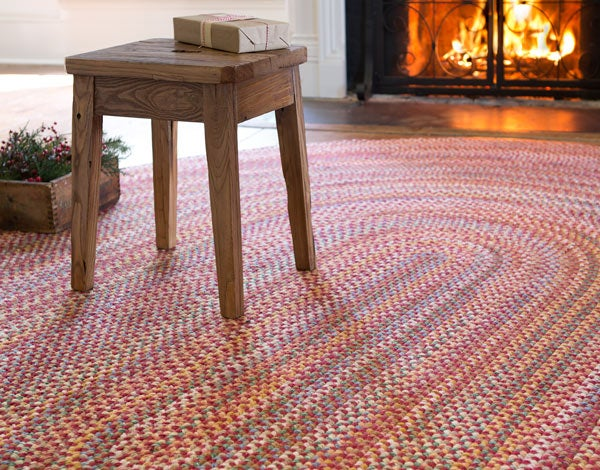 Red Braided Rhody Rug