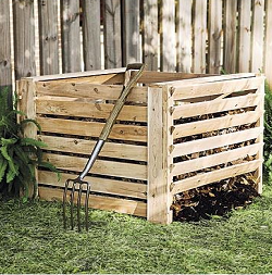 on-ground compost bin