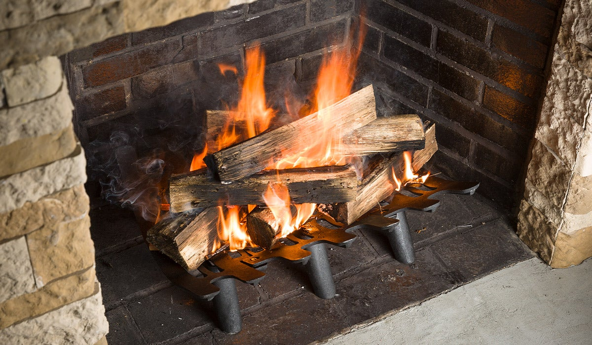 Cast Iron Deep-Bed Fireplace Grate