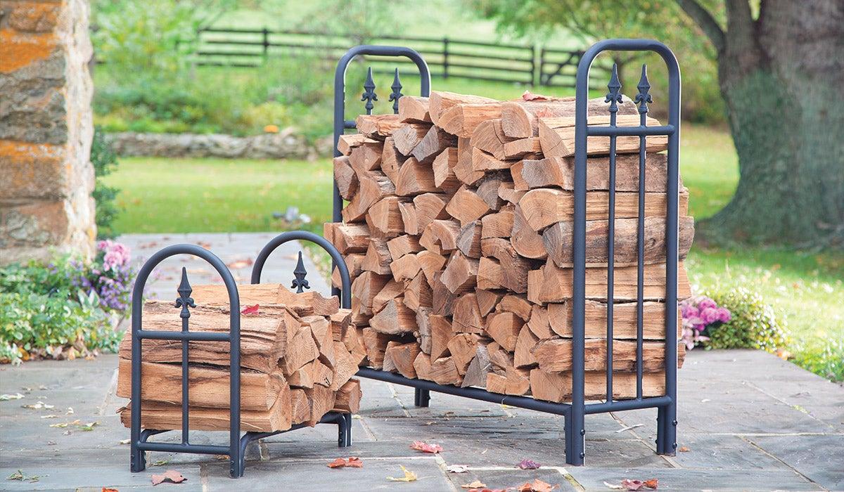 Heavy Duty Steel Wood Racks with Finial Design