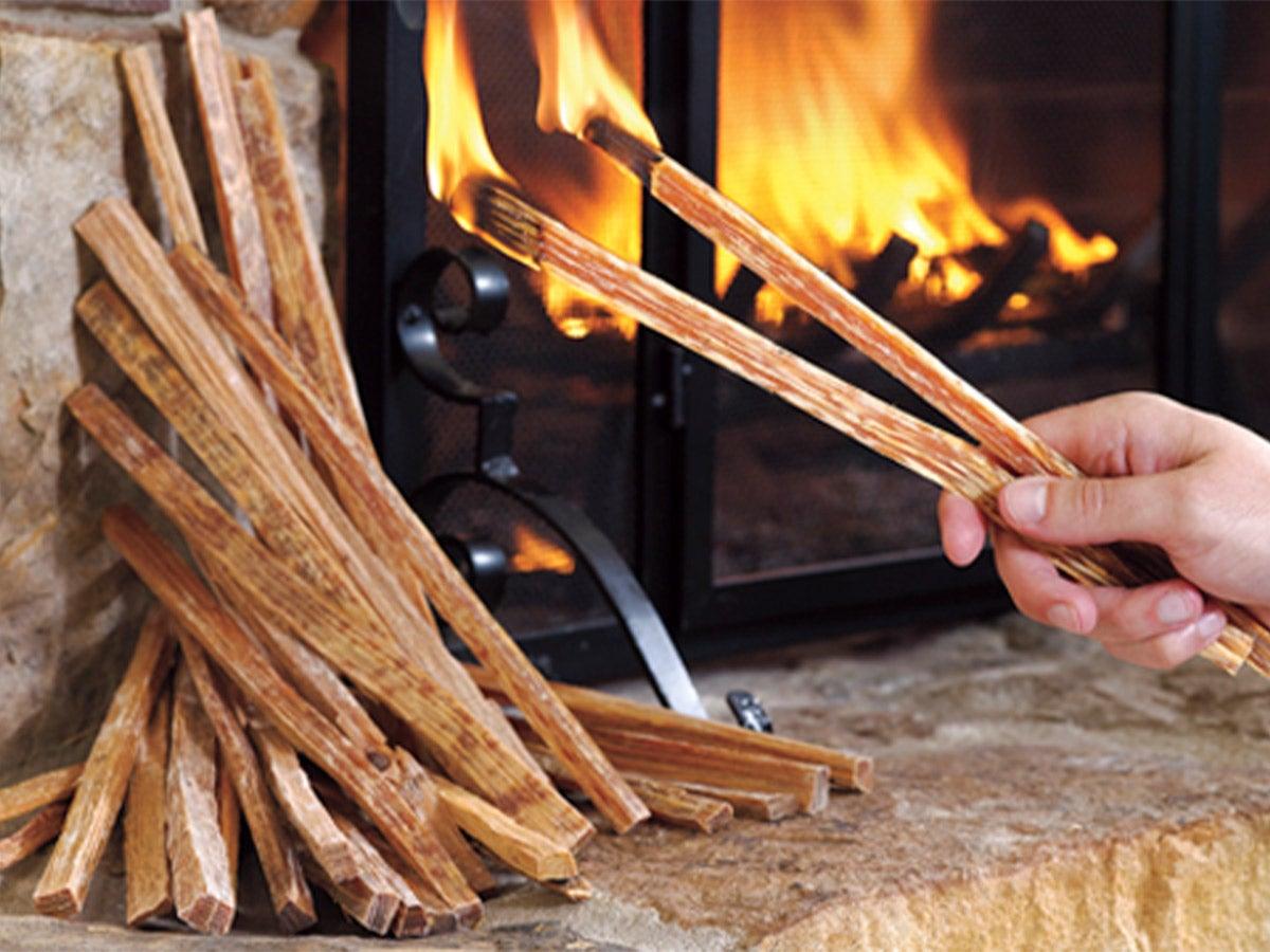 lighting fatwood kindling sticks