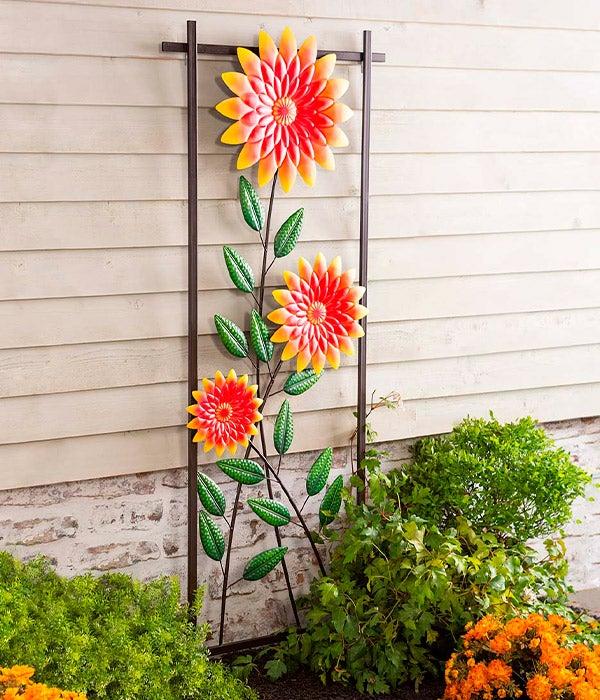 Fall Chrysanthemums Metal Wreath