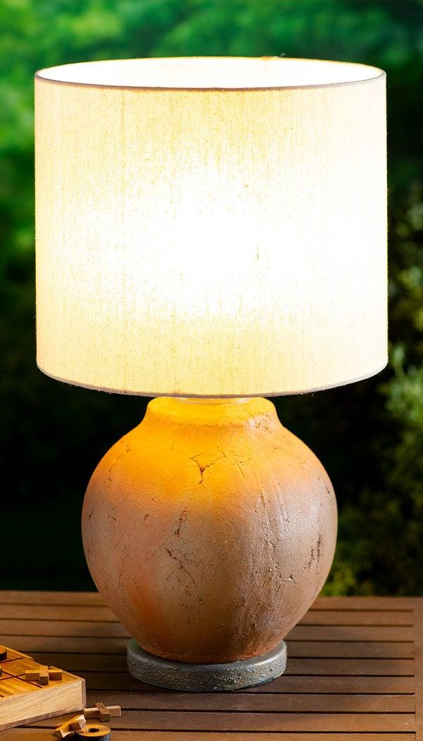 Outdoor Terra Cotta Style Table Lamp