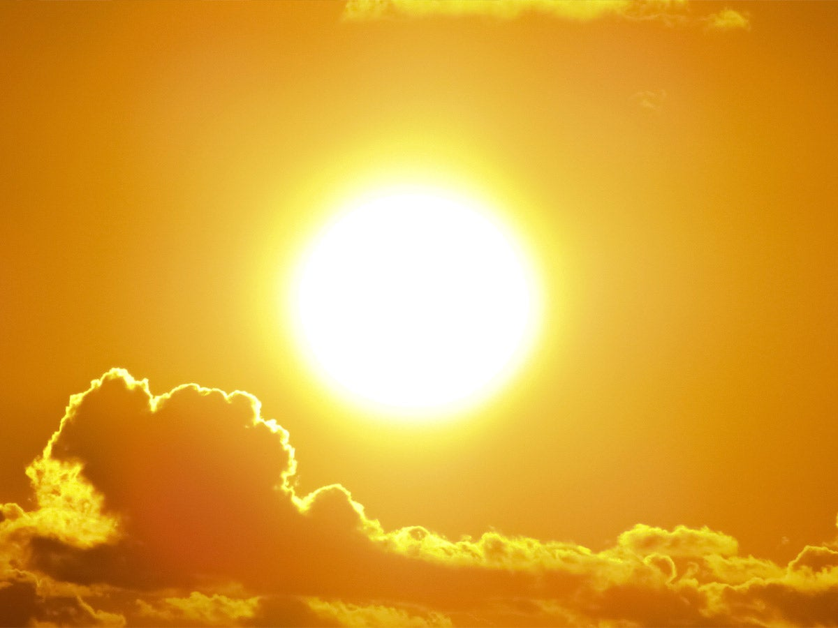 yellow sun and clouds