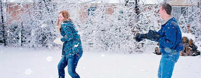 people playing in snow
