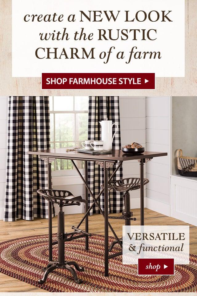 Create a NEW LOOK with the RUSTIC CHARM of a FARM  SHOP Farmhouse Style>>