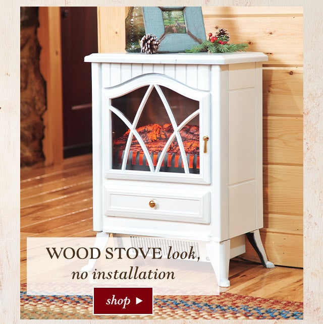 Wood stove look, no installation